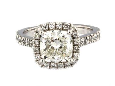 2.66 ctw Diamond Halo Ring