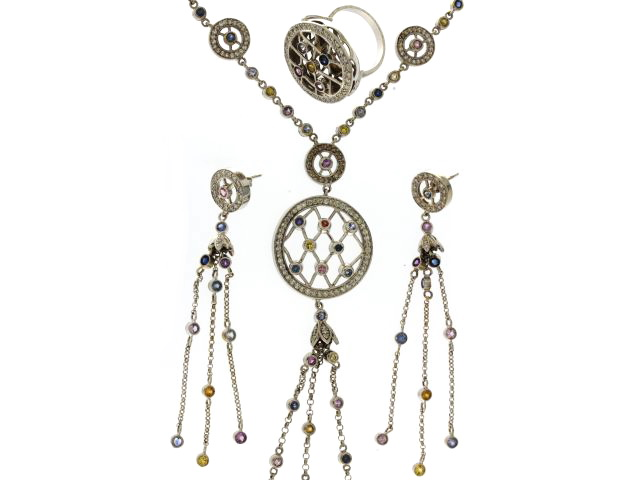 Multi Sapphire & Diamond Set