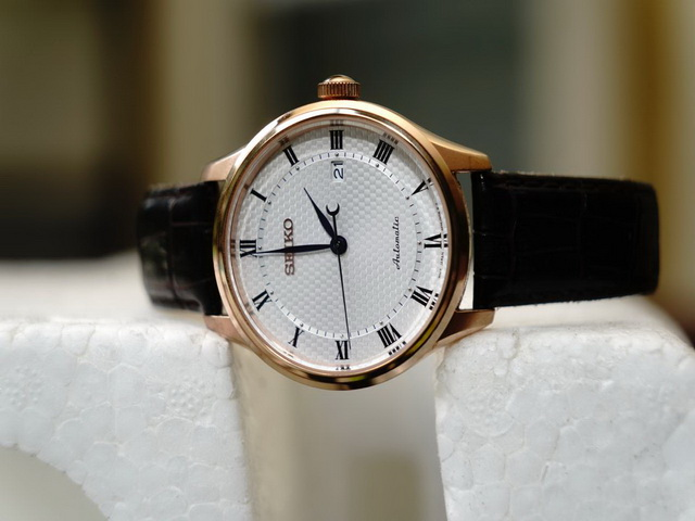 Gents Seiko White Dial Automatic Watch