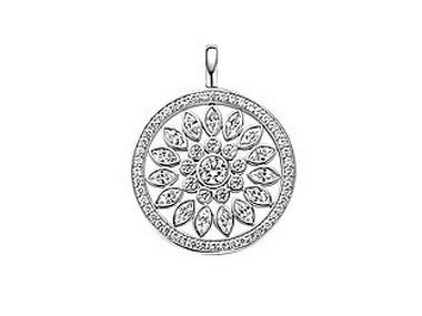 Large Cubic and Silver Pendant