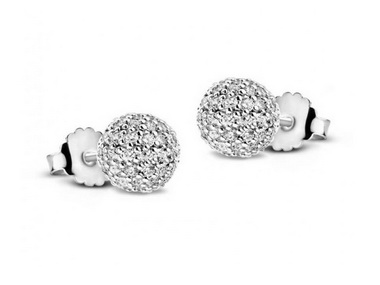 Cubic Ball Earrings