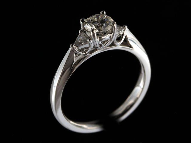 0.74 Ctw Platinum Engagement Ring