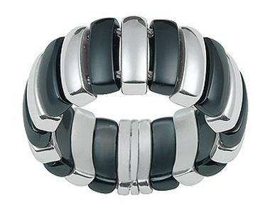 Black Ceramic And Steel Ring