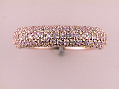 Pink Band With Cubic Zirconias