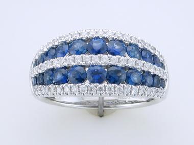 14kt Sapphire Diamond Band