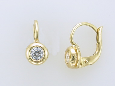 18KT Frenchback Earrings