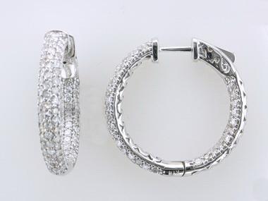 Pavee Diamond Hoops
