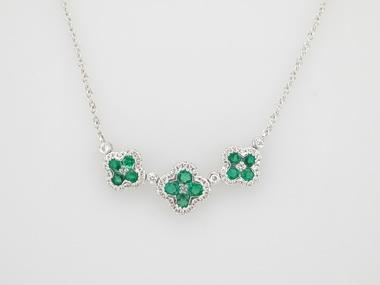 Emerald Quatrefoil