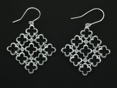 Thistle & Bee silver quatrefoil earrings