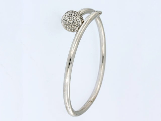 Diamond Lucky Nail Bracelet