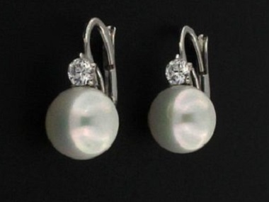 Pearl and Cubic Earrings