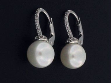 Pearl and Cubic French Backs