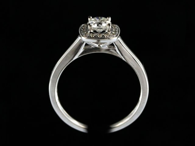 0.54 ctw Halo Engagement Ring