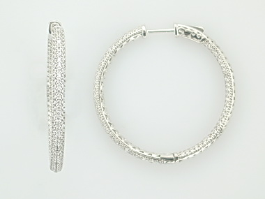 Locking Silver Hoop Earrings