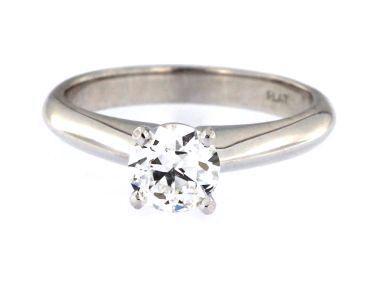 0.80 ct Platinum Engagement Ring