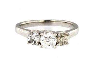 1.00 ctw Old Euro Diamond ring