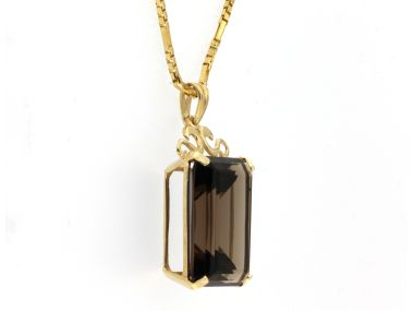 Smokey Quartz Pendant & Chain