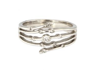 14KT Right Hand Ring with Diamonds