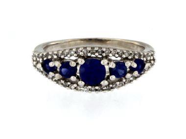 10KT Sapphire & Diamond Ring