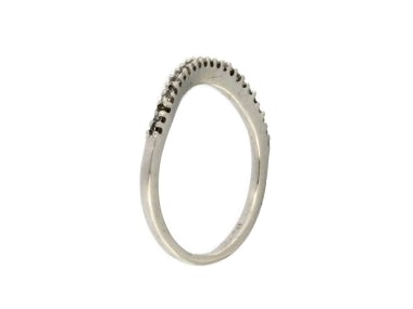 0.12 ctw Contoured Diamond Band