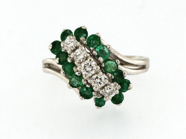 Diamond & Emerald Ring
