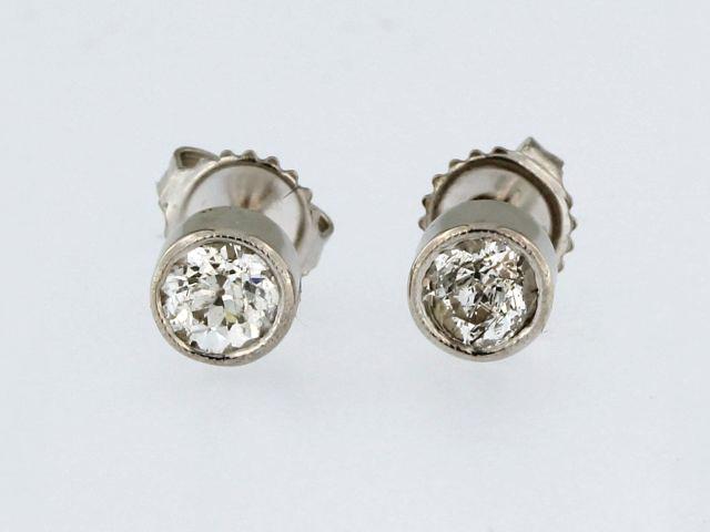 0.90 ctw European Diamond Studs