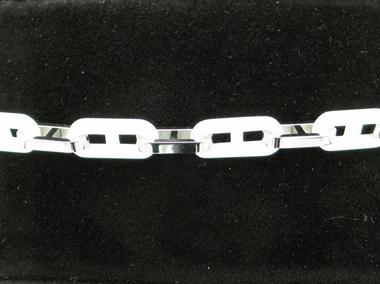 White Ceramic And Steel Bracelet
