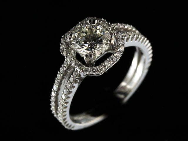 14kw 1.09Ct Octillion Diamond Ring