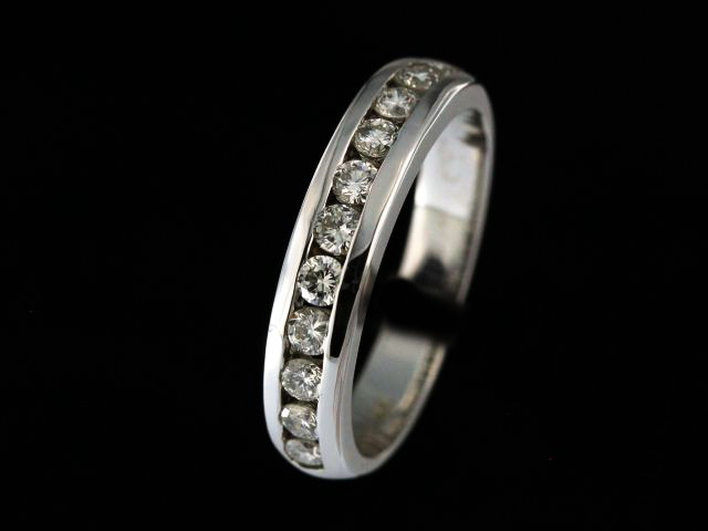 14kt Channel Set Diamond Band