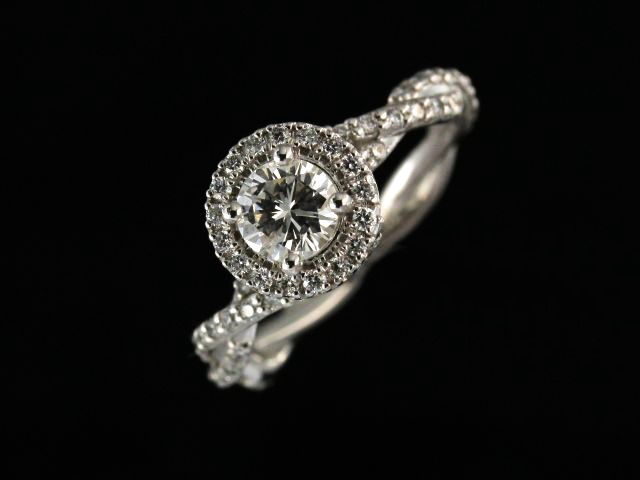 14KT Halo Style Engagement Ring