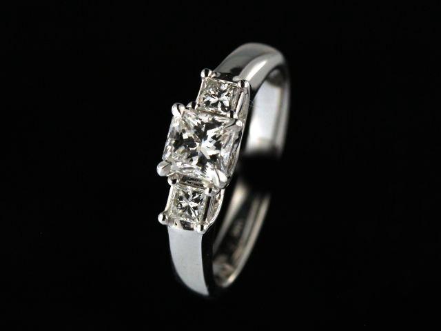 1.00 ctw Princess Trinity Ring