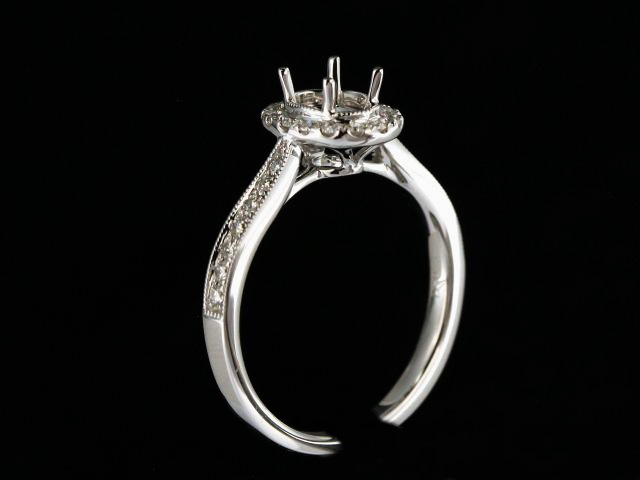 Oval Centre Diamond Mount