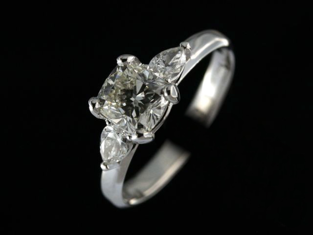 Cushion & Pear Diamond Ring