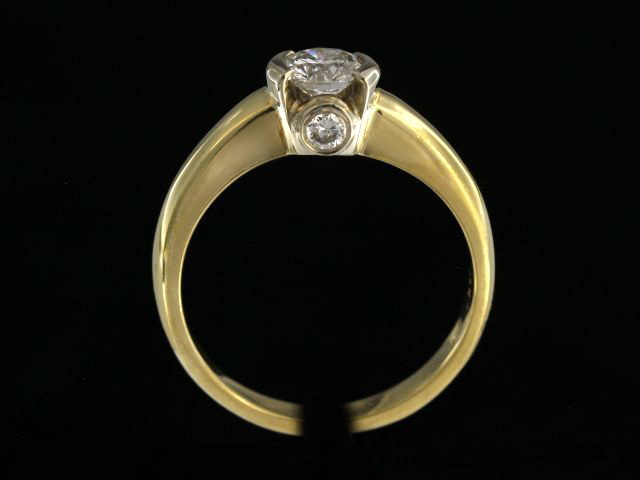 0.73 ctw Bezel Set Engagement Ring