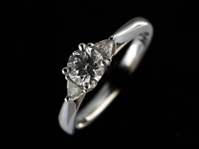 0.74 Ctw Platinum Engagement Ring