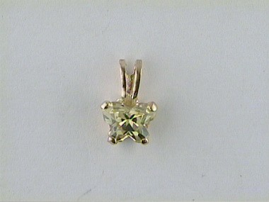 10ky August Butterfly Pendant