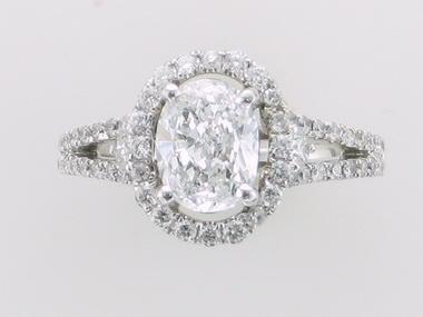 Oval Halo Style Diamond Ring