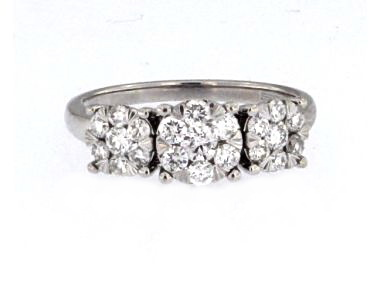 14KT Multi Diamond Ring