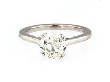 1.58 ct Old Mine Cut Diamond Ring