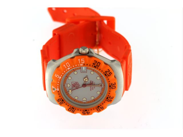 Ladies Formula 1 Orange Sports Watch