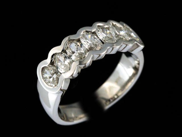Bezel Set Oval Diamond Ring