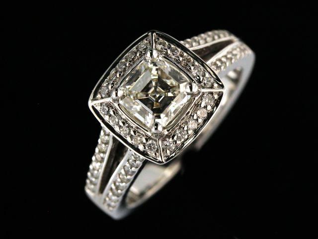 1.03 ct Asscher Cut Diamond Ring