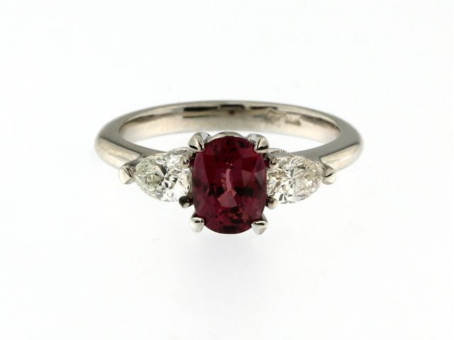 Raspberry Ruby & Diamond Ring