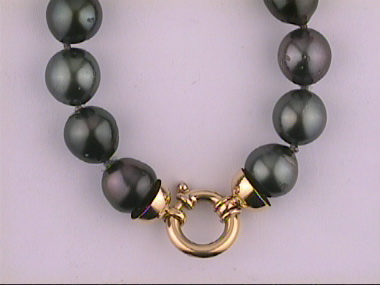"""18ky 18"""" 11-14mm South Sea Pearls"""