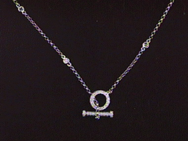18kt Toggle Necklace .72ctw