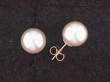 9mm South Sea Pearl Stud Earrings