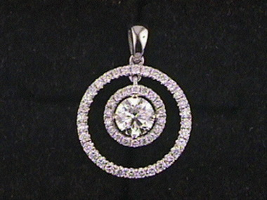 18kt .90 Ctw Diamond Pendant