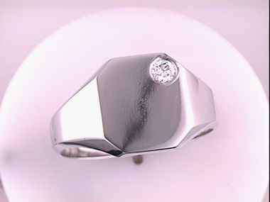 14kw .12ct Rect. Signet Ring