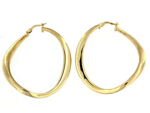 14KT Electoform Hoop Earrings