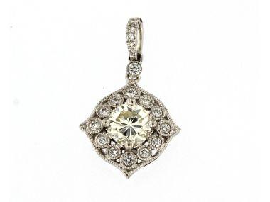 Cushion Diamond Pendant
